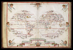 Map of the World in Two Hemispheres f.1